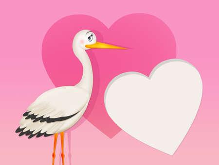 stork for female Stockfoto