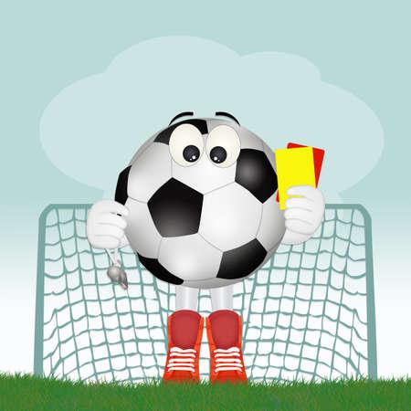 funny illustration of soccer referee
