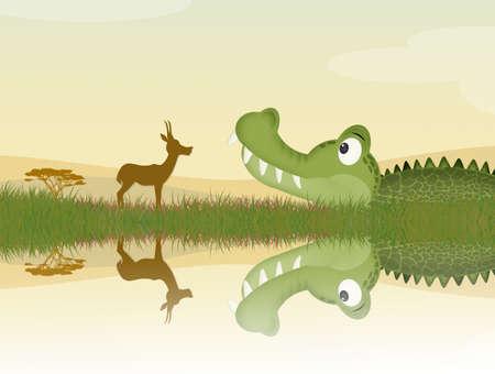 alligator on river