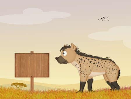 illustration of hyena
