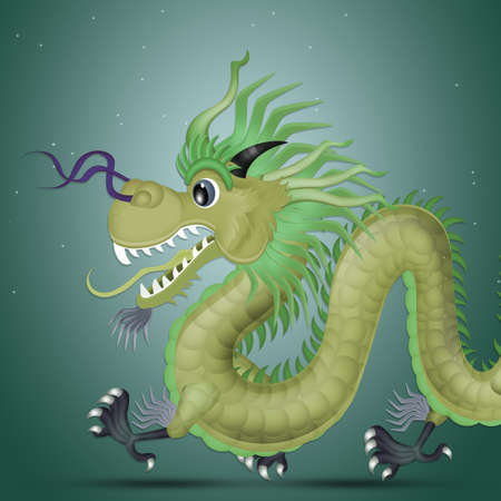 Chinese dragon mask