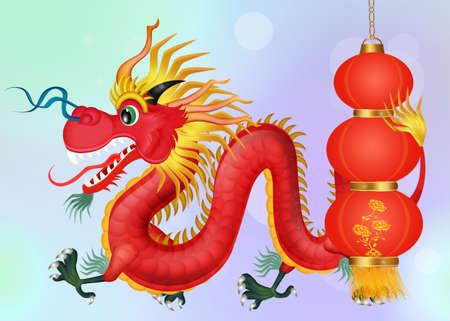 traditional Chinese dragon Фото со стока