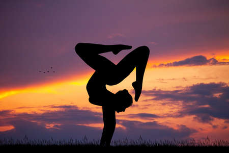 contortion at sunset