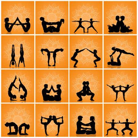 various yoga poses