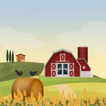 illustration of farm