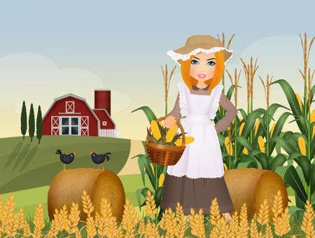 girl farmer Stock Photo