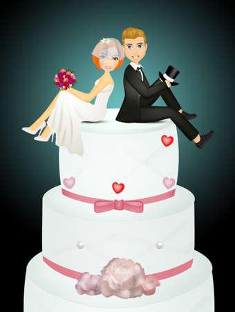 illustration of wedding cake