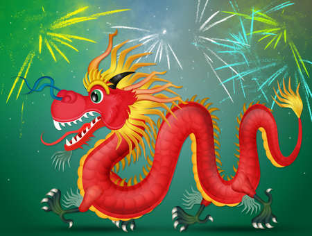 Chinese dragon decorated