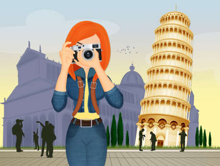 girl tour in Pisa