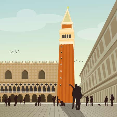 Illustration of Venice Фото со стока - 101317831