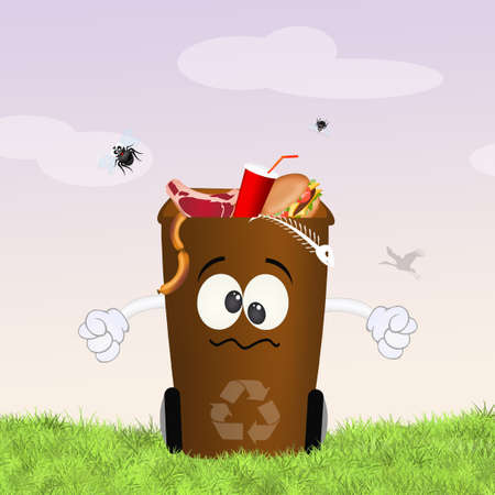 organic garbage Stock Photo