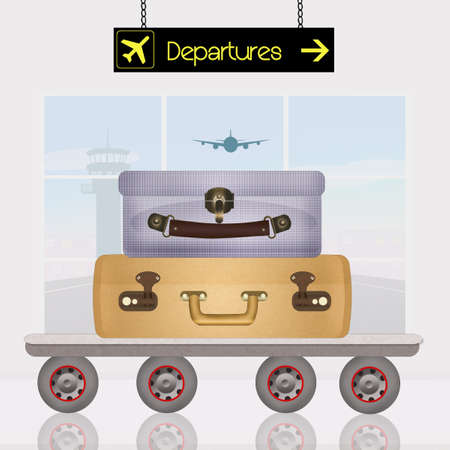 luggage departures airport