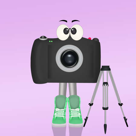 funny camera with tripod