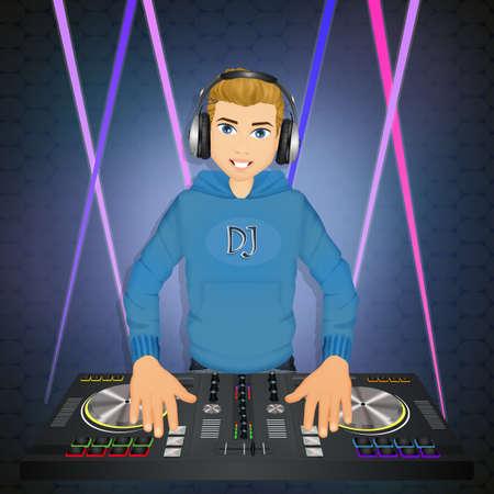 illustration of DJ 写真素材 - 103305263