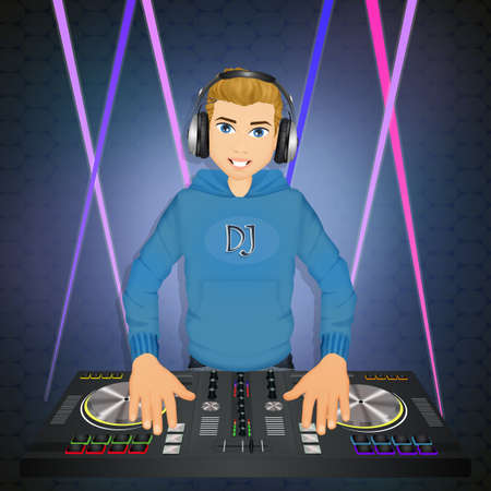 illustration of DJ Stock Photo