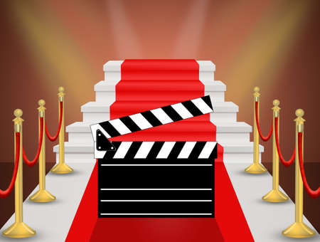 illustration of Red carpet cinema