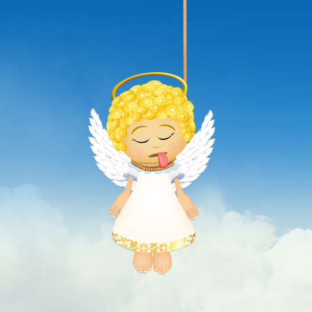 ハング天使の面白いイラスト