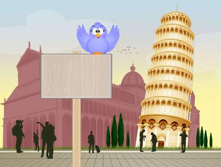 welcome in Pisa Stok Fotoğraf