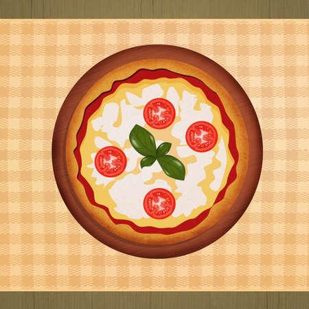 Italian pizza menu on table Banco de Imagens