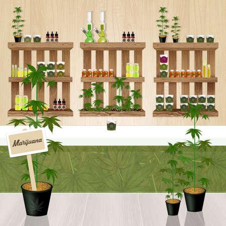 cannabis product store Stockfoto - 104867817