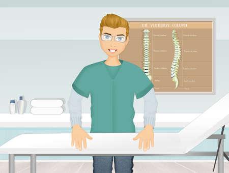 illustration of osteopath