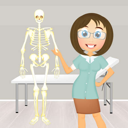 illustration of osteopath