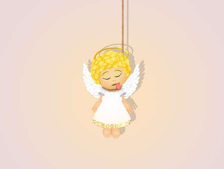 illustration of hanged angel vector illustration