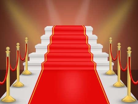 illustration of red Carpet vector illustration Stock Photo