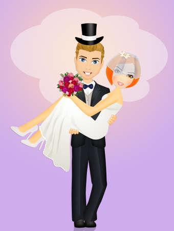 sposa tra le braccia dello sposo