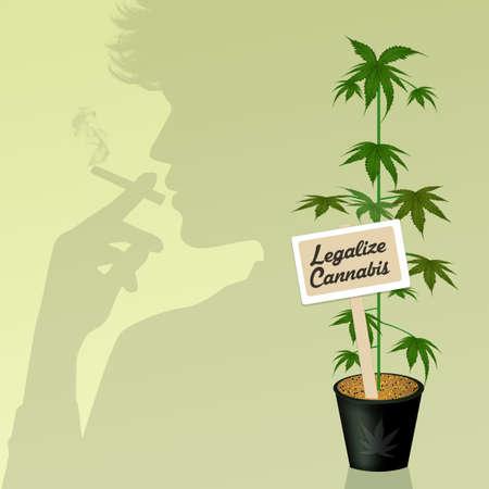 A man smokes cannabis Stockfoto