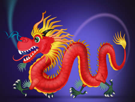 Traditional dragon vector illustration Stockfoto