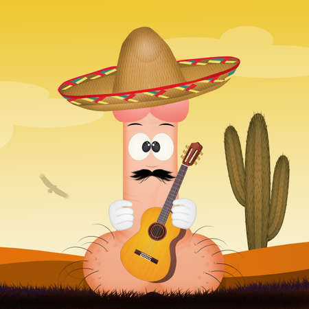 funny penis with sombrero