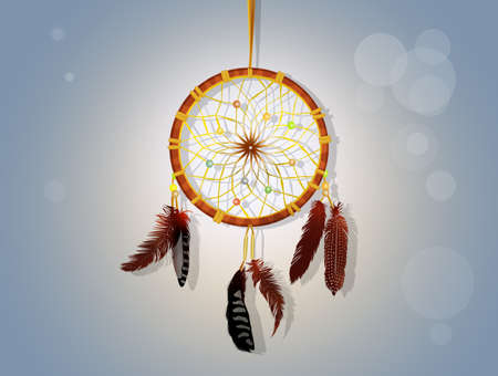 illustration of dream catcher