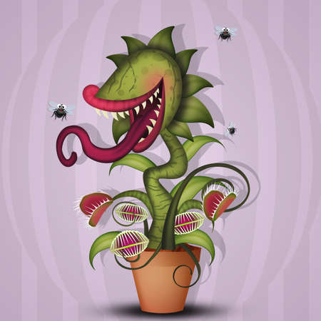 illustration of carnivorous plant Stock Photo