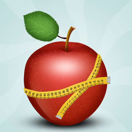 illustration of apple diet Banque d'images - 108647874