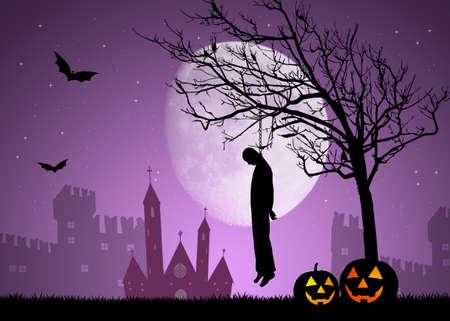 Hanged man on Halloween 写真素材