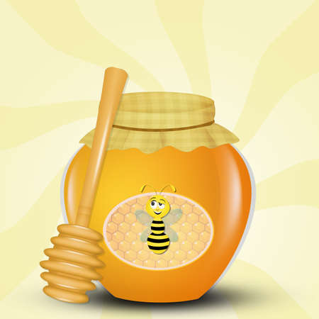 illustration of honey Banco de Imagens
