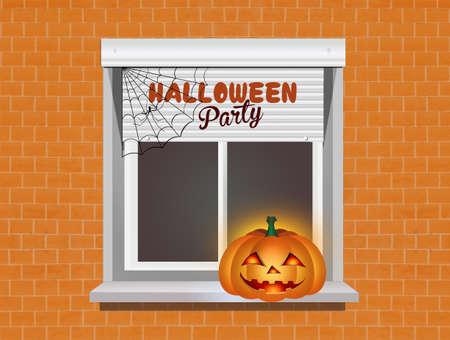 illustration of Halloween party