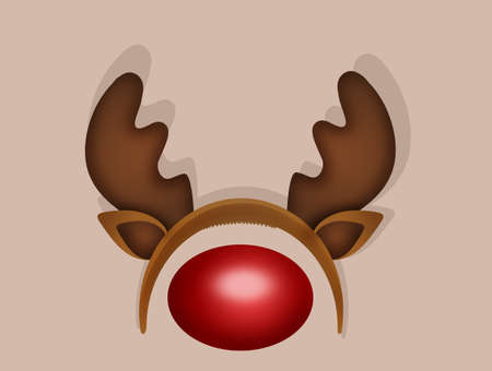 Reindeer horns and nose