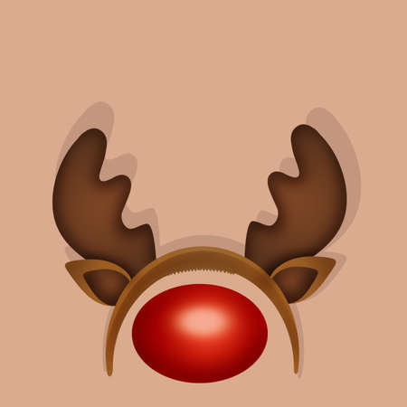 reindeer and nose mask