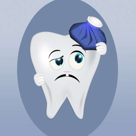 tooth with toothache Standard-Bild