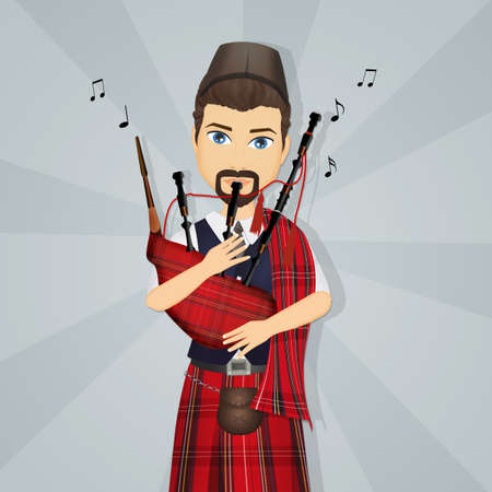 Scottish Piper Stock Photos And Images - 123RF