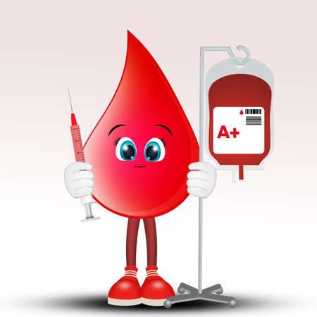 drop of blood donation Stock Photo