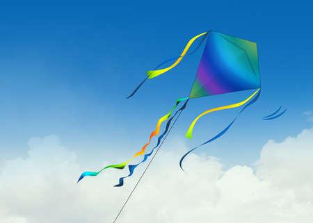 illustration of kite in the sky