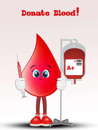 illustration of donate blood