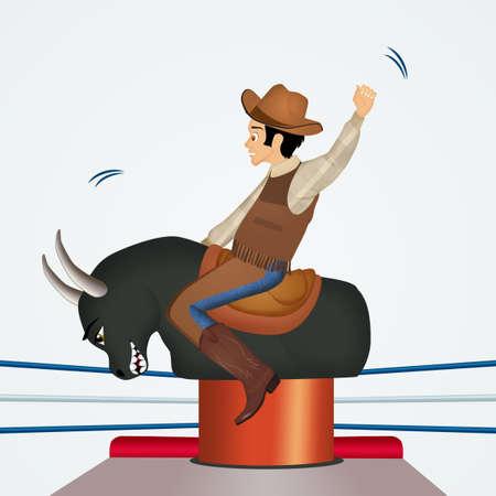 illustration of mechanical bull