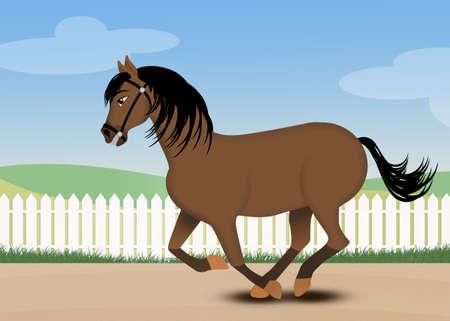 illustration of horse gallop