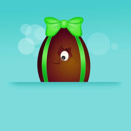illustration of Easter chocolate egg