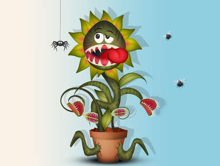 carnivorous plant eat insect