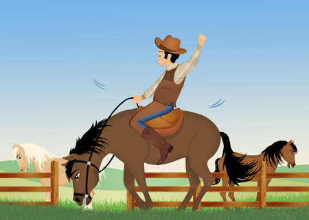 man on a rodeo horse